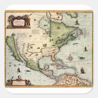 Adesivo Quadrado América 1610