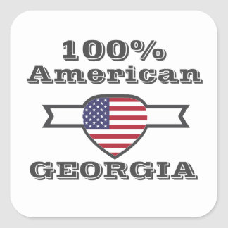 Adesivo Quadrado Americano de 100%, Geórgia