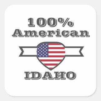 Adesivo Quadrado Americano de 100%, Idaho