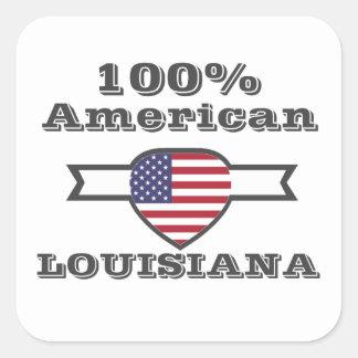 Adesivo Quadrado Americano de 100%, Louisiana