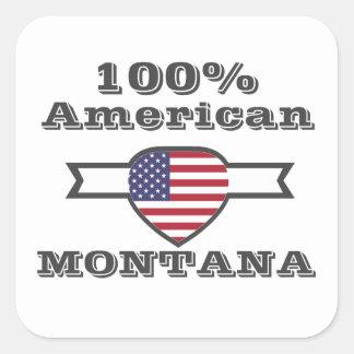Adesivo Quadrado Americano de 100%, Montana