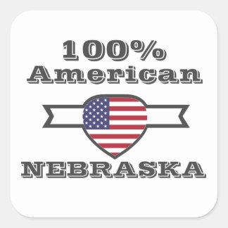 Adesivo Quadrado Americano de 100%, Nebraska