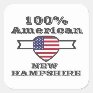 Adesivo Quadrado Americano de 100%, New Hampshire