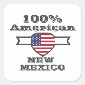 Adesivo Quadrado Americano de 100%, New mexico