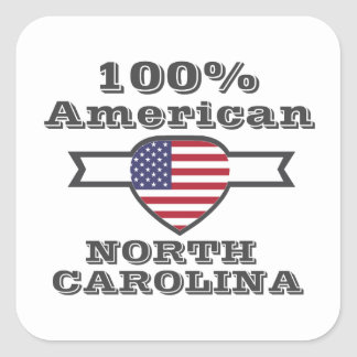 Adesivo Quadrado Americano de 100%, North Carolina