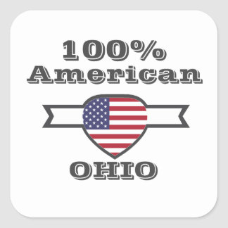 Adesivo Quadrado Americano de 100%, Ohio