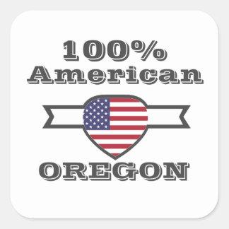 Adesivo Quadrado Americano de 100%, Oregon