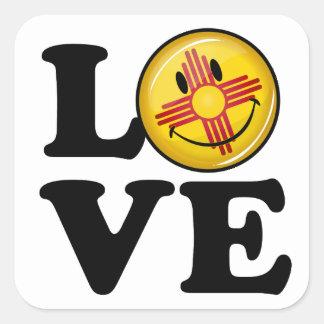 Adesivo Quadrado Amor da bandeira de sorriso de New mexico