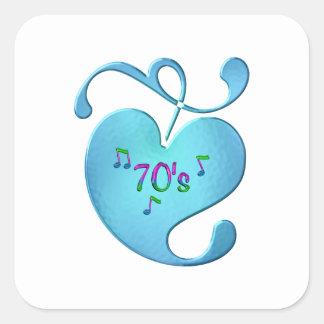 Adesivo Quadrado amor da música 70s
