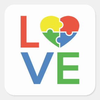 Adesivo Quadrado Amor do autismo