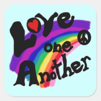 Adesivo Quadrado Amor um uns outros t-shirt e presentes