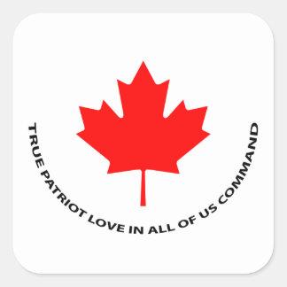 Adesivo Quadrado Amor verdadeiro do patriota ntodos nós comando