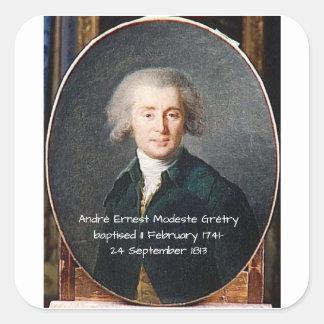 Adesivo Quadrado André Ernest Modeste Gretry