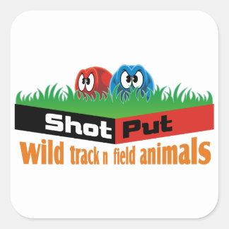 Adesivo Quadrado Animais selvagens do atletismo