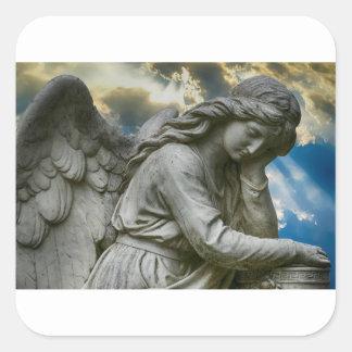 Adesivo Quadrado Anjo bonito