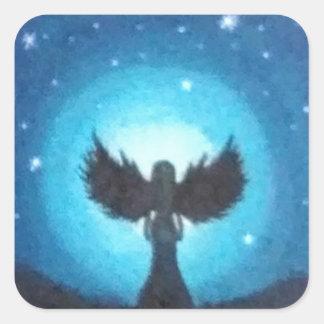 Adesivo Quadrado Anjo-da-guarda