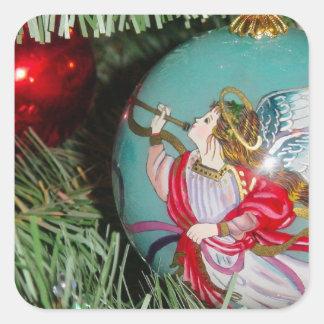 Adesivo Quadrado Anjo do Natal - arte do Natal - decorações do anjo