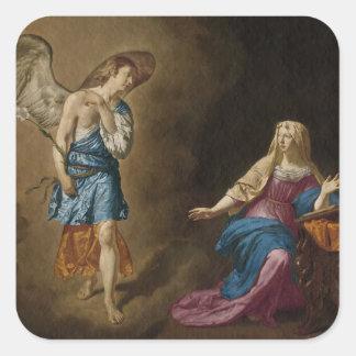 Adesivo Quadrado Anjo e Mary do aviso