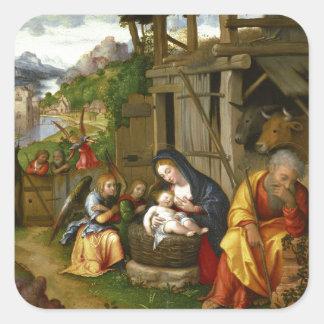 Adesivo Quadrado Anjos c1515 da natividade e da criança