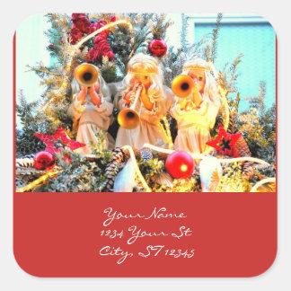 Adesivo Quadrado Anjos celestiais Thunder_Cove do Feliz Natal