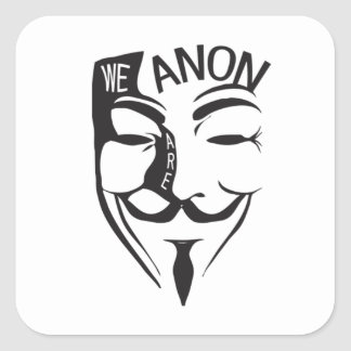 Adesivo Quadrado Anónimo