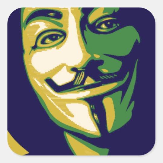 Adesivo Quadrado Anonymous Brasil