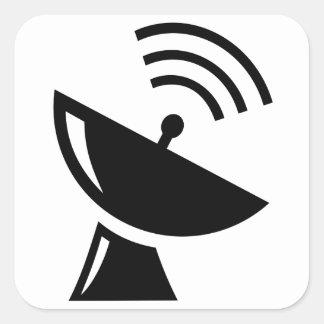 Adesivo Quadrado Antena parabólica