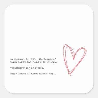 Adesivo Quadrado Anti dia dos namorados