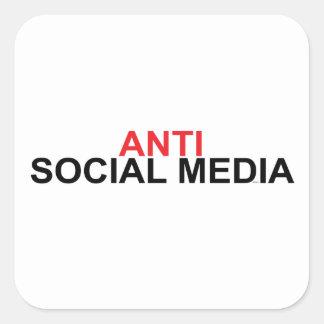 Adesivo Quadrado Anti meios sociais