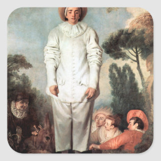 Adesivo Quadrado ANTOINE WATTEAU - Pierrot (Gilles) 1718