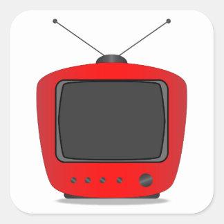 Adesivo Quadrado Aparelho de televisão velho