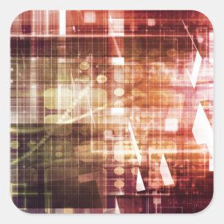 Adesivo Quadrado Aparência de Digitas com arte de transferência da