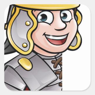 Adesivo Quadrado Apontar romano do soldado