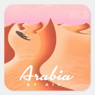 Adesivo Quadrado Arábia pelo poster de viagens do ar