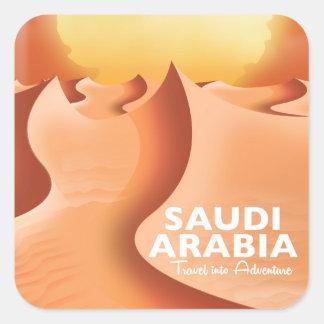 Adesivo Quadrado Arábia Saudita pelo poster de viagens do ar