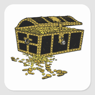 Adesivo Quadrado Arca do tesouro