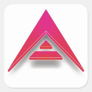 Adesivo Quadrado ARCA em 3D