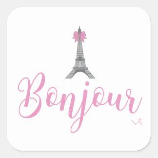 Adesivo Quadrado Arco da torre de Bonjour-Eiffel original