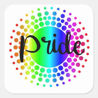 Adesivo Quadrado Arco-íris do orgulho gay