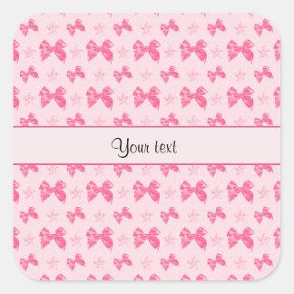 Adesivo Quadrado Arcos cor-de-rosa bonitos do cetim