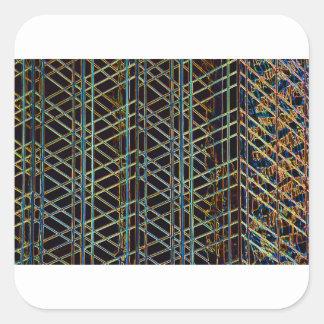Adesivo Quadrado Arquitetura abstrata