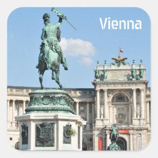 Adesivo Quadrado Arquitetura em Viena, Áustria