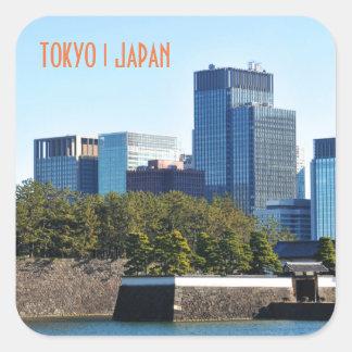 Adesivo Quadrado Arranha-céus em Tokyo, Japão