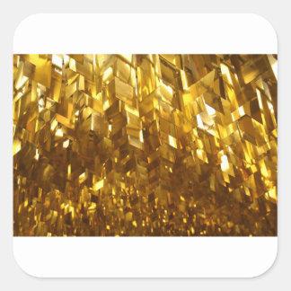 Adesivo Quadrado Arte abstracta do teto do ouro