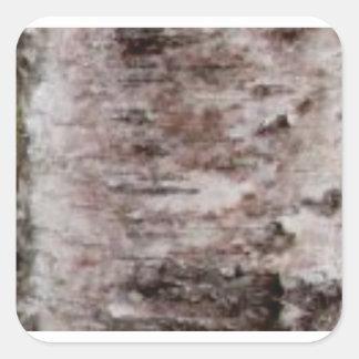 Adesivo Quadrado arte branca escamoso do latido