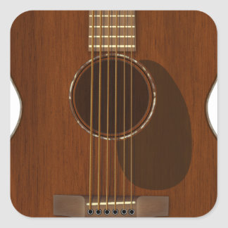Adesivo Quadrado Arte da guitarra acústica