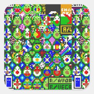 Adesivo Quadrado Arte de Avacado de /r/place