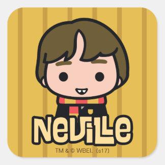 Adesivo Quadrado Arte do personagem de desenho animado de Neville