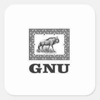Adesivo Quadrado Arte do poder do Gnu