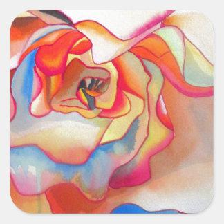 Adesivo Quadrado Arte do watercolour da begónia de Fred Martin